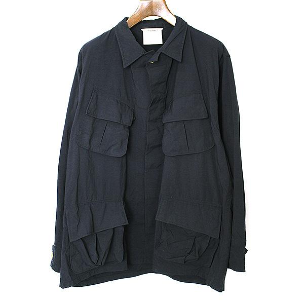 【中古】digawel 4 ディガウェル 4 SAMPLE 17SS BIG SHIRT JACKET ファティーグシャツジャケット メンズ ネイビー 1