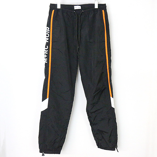 【中古】M+RC NOIR マルシェ ノア 17SS OG TRACK PANTS メンズ ブラック L