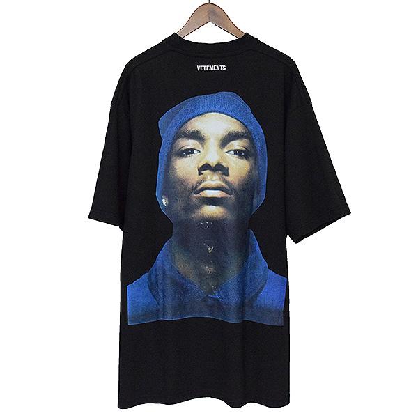 c5b0fc3b1d2ef VETEMENTS ヴェトモン 16AW Snoop Dogg Bucks Knoop dog over size T-shirt men black  M ...
