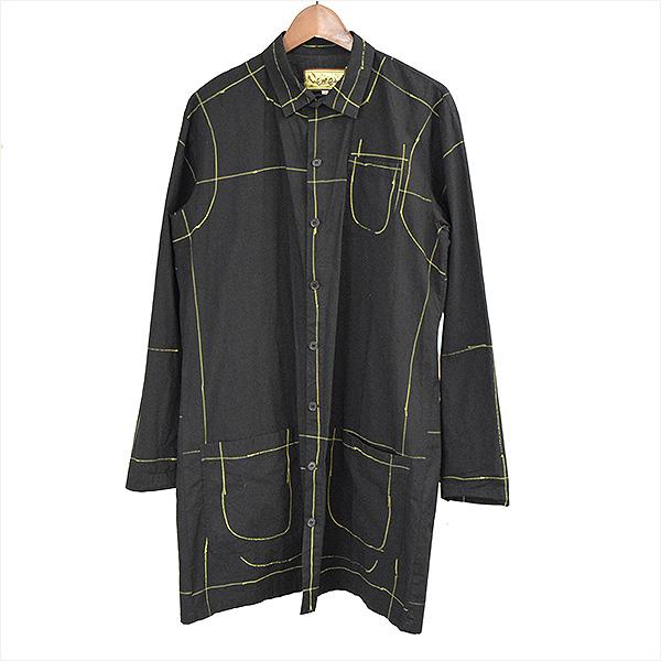 【中古】NEMETH ネメス ペイントデザインシャツコート メンズ ブラック S