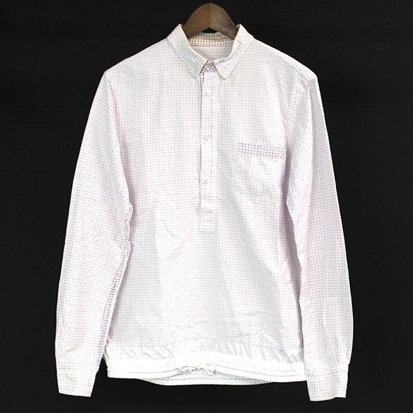 【中古】sacai サカイ 11SS グラフチェックドローコードプルオーバーシャツ メンズ ミックスカラー 1