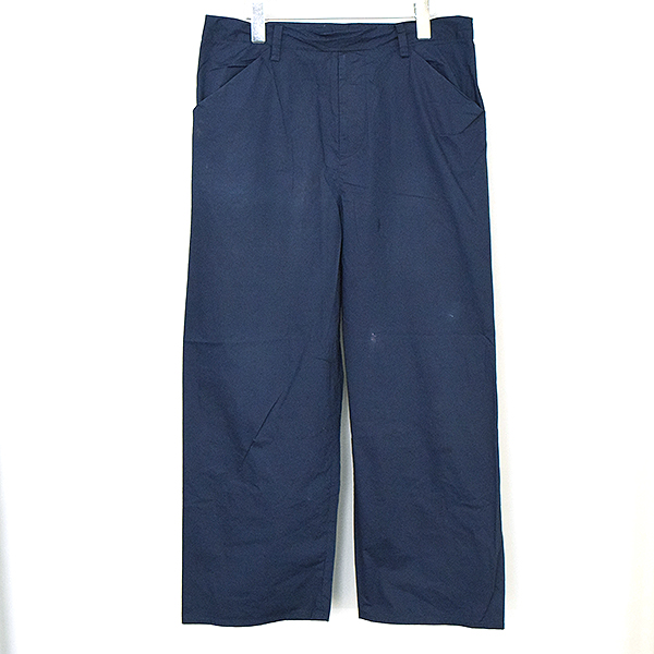【中古】SUNSEA サンシー 16SS Cotton Straight Pants コットンストレートパンツ メンズ ネイビー 2