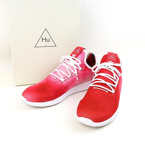 【中古】adidas アディダス Pharrell Williams PW HU HOLI Tennis Hu スニーカー メンズ レッド 28cm