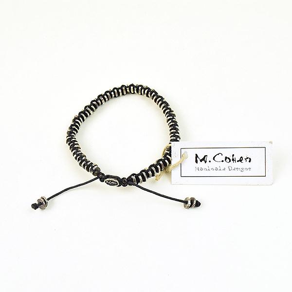 【中古】M.Cohen エムコーエン シルバーディスクブレイズブレスレット メンズ ブラック