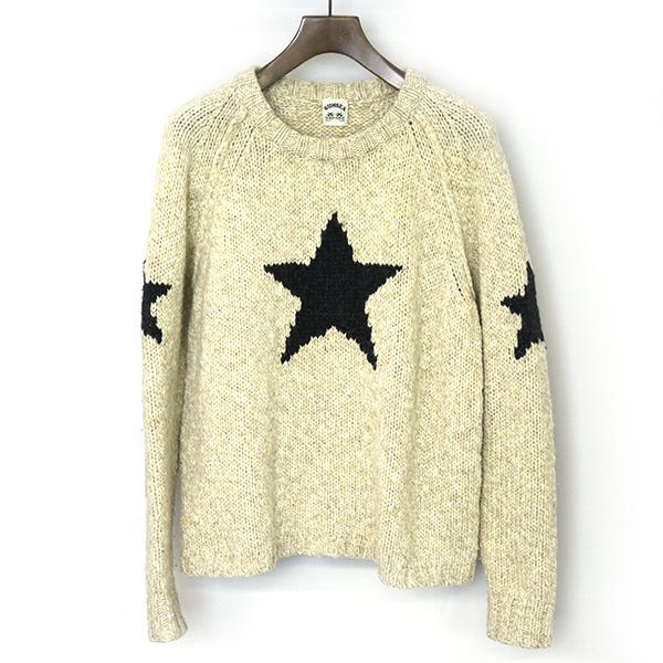 【中古】SUNSEA サンシー 15AW ICHIBANBOSHI Sweater ニットセーター メンズ アイボリー 2