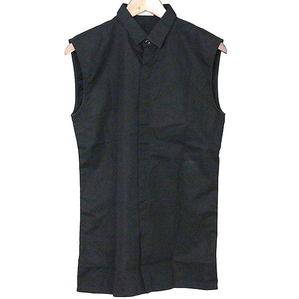 【中古】Dior HOMME ディオールオム 03SS Follow Me Bee刺繍ノースリーブシャツ メンズ ブラック 38