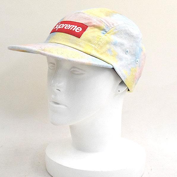 【中古】Supreme シュプリーム 18SS Multicolor Denim Camp Cap マルチカラーデニムキャンプキャップ メンズ ミックスカラー F