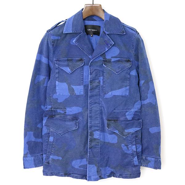 【中古】1piu1uguale3 ウノピゥウノウグァーレトレ 16AW M-43 ストレッチモールスキンビッグカモフラージュジャケット メンズ ブルー 4