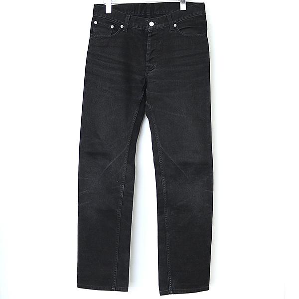 【中古】HELMUT LANG ヘルムート ラング 90's ブラックデニムパンツ メンズ ブラック 31