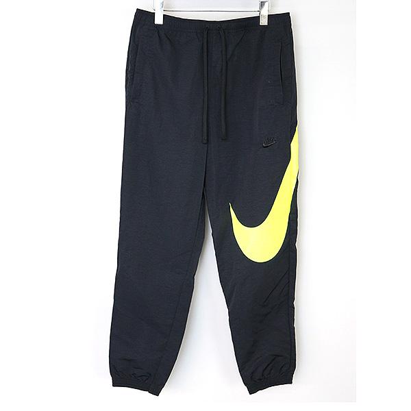 【中古】NIKE ナイキ BIG SWOOSH WOVEN PANTS ウーヴンパンツ メンズ ブラック XL