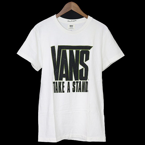 【中古】VANS ヴァンズ x JACKSON MATISSE RHC限定 プリントTシャツ メンズ ホワイト M