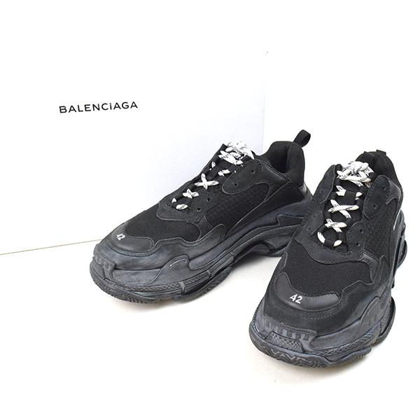 size 40 a0b1c 3a1ba 【中古】BALENCIAGA バレンシアガ 18SS TRIPLE S TRAINERS スニーカー メンズ ブラック  42(27.5cm) MODESCAPE 楽天市場店