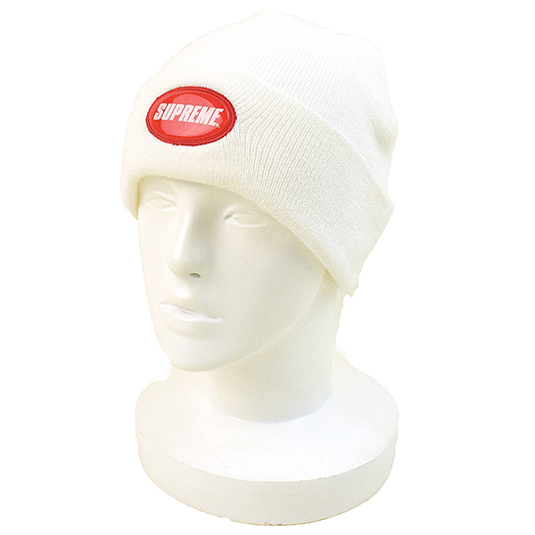 427ac959 Supreme シュプリーム 18SS Rubber Patch Beanie rubber patch beanie men white F ...