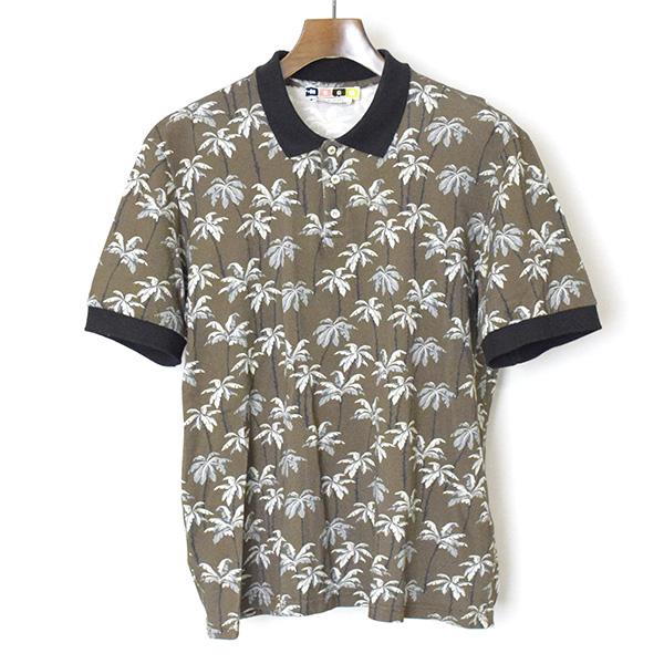 【中古】MSGM エムエスジーエム ツリープリントポロシャツ メンズ ブラウン 44
