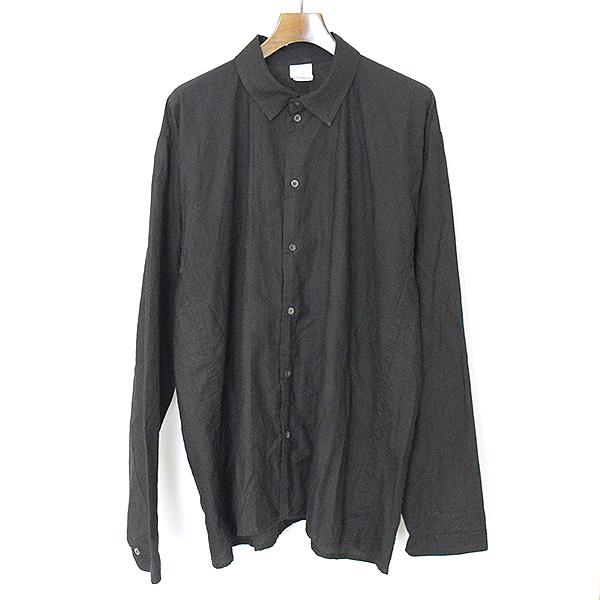 【中古】JAN-JAN VAN ESSCHE ヤンヤンヴァンエシュ LOOSE FIT SHIRT JACKET ルーズフィットシャツジャケット メンズ ブラック XL