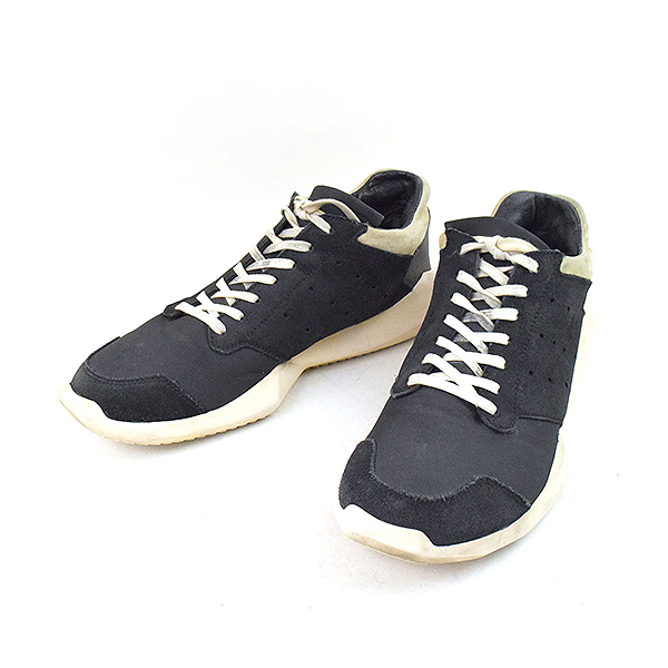 71486881a13 Rick Owens リックオウエンス X adidas 14AW Tech Runner technical center runner sneakers  men black 26.5cm