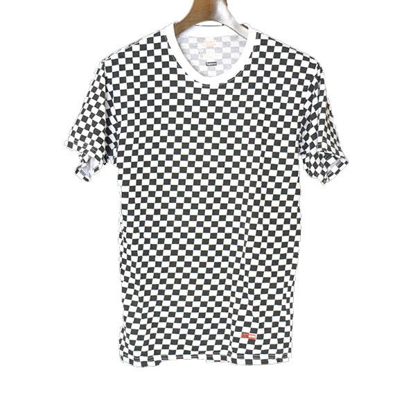 【中古】Supreme シュプリーム ×Hanes チェックTシャツ メンズ ブラック×ホワイト S