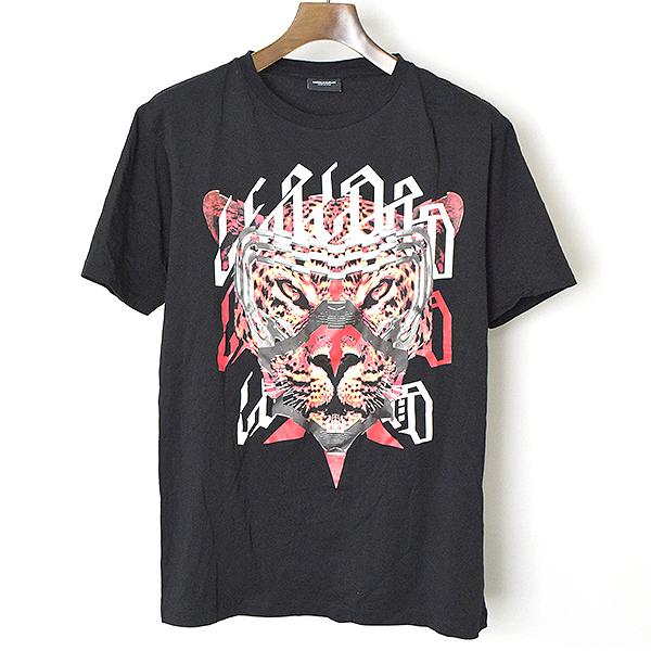 【中古】MARCELO BURLON マルセロバーロン 17SS NESTOR グラフィックプリントTシャツ メンズ ブラック XS マルセロブロン