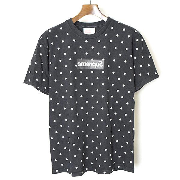 【中古】Supreme シュプリーム ×DOVER STREET MARKET Ginza COMME des GARCONS 12SSドットミラーボックスロゴTシャツ メンズ ブラック M