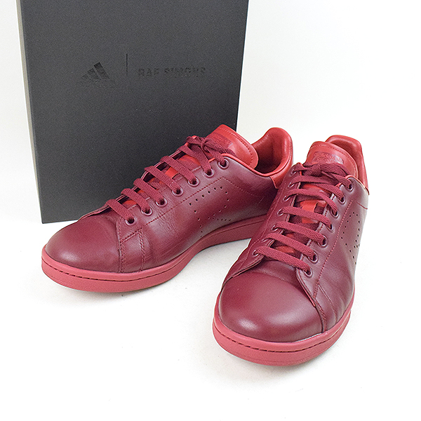 low priced 395d7 fcf4b adidas by RAF SIMONS Adidas by rough Simmons 18SS RS Stan Smith Core  Burgundy Power Red low-frequency cut sneakers men red 27.5cm