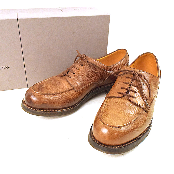 2a61b1aa2707f1 J.M WESTON Jay M Weston 641 golf U tip leather Derby shoes men brown 7  (around 26.5cm)