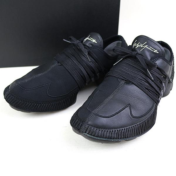 d12f800d79a2d Yohji Yamamoto toothpick Yamamoto X adidas 18SS YY TAKUSAN LOW WO logo  embroidery neoprene leather combination low-frequency cut sneakers men black  27cm