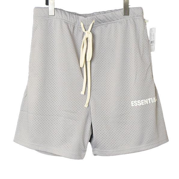 【中古】FOG by FEAR OF GOD フォグバイフィアーオブゴッド ESSENTIALS Graphic Mesh Drawstring Shorts ローストリングメッシュショーツ メンズ グレー S