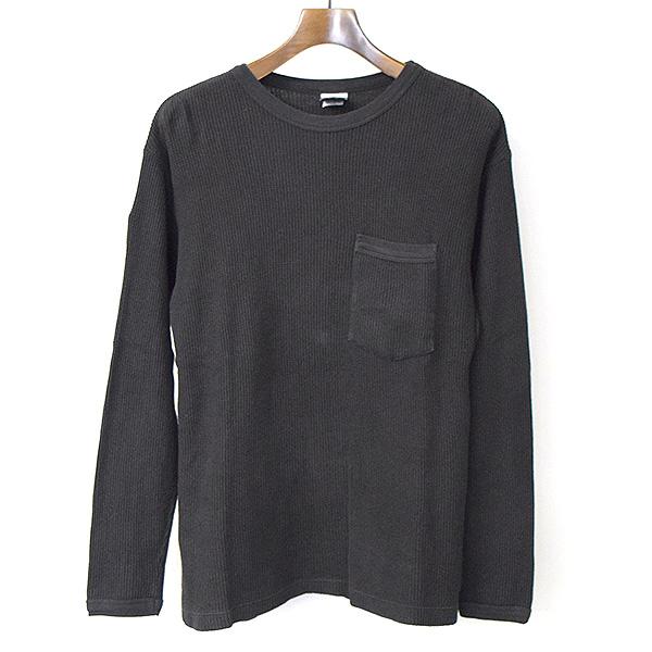 【中古】CHROME HEARTS クロムハーツ ダガー刺繍サーマルカットソー メンズ ブラック XS