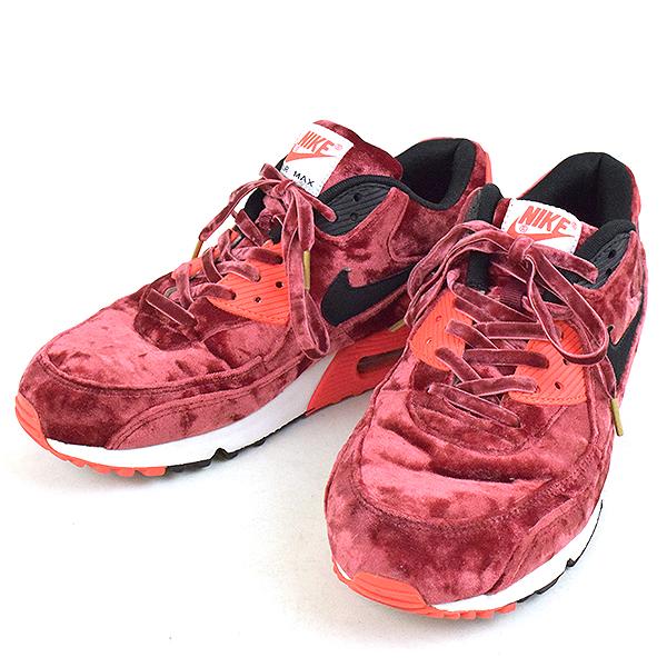 f7f1165650358e MODESCAPE Rakuten Ichiba Shop  NIKE Nike AIR MAX 90 ANNIVERSARY VELVET  sneakers men burgundy 27cm