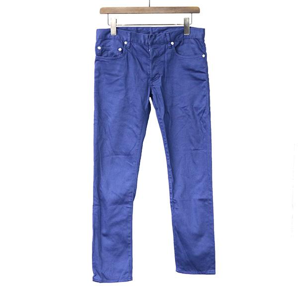 【中古】Dior HOMME ディオールオム 11SS コットンストレッチスキニーパンツ メンズ ブルー 29