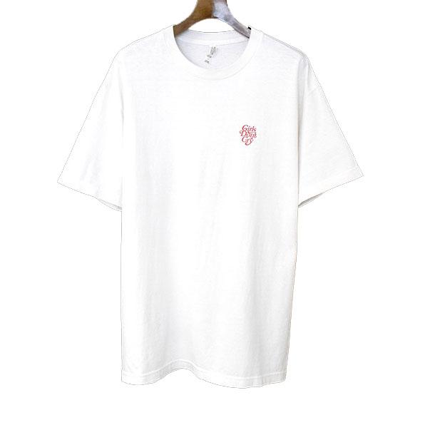【中古】Girls Don't Cry ガールズドントクライ バックロゴプリントTシャツ メンズ ホワイト L