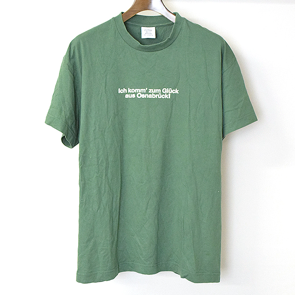 【中古】VETEMENTS ヴェトモン 17AW Tourist Tシャツ メンズ グリーン L