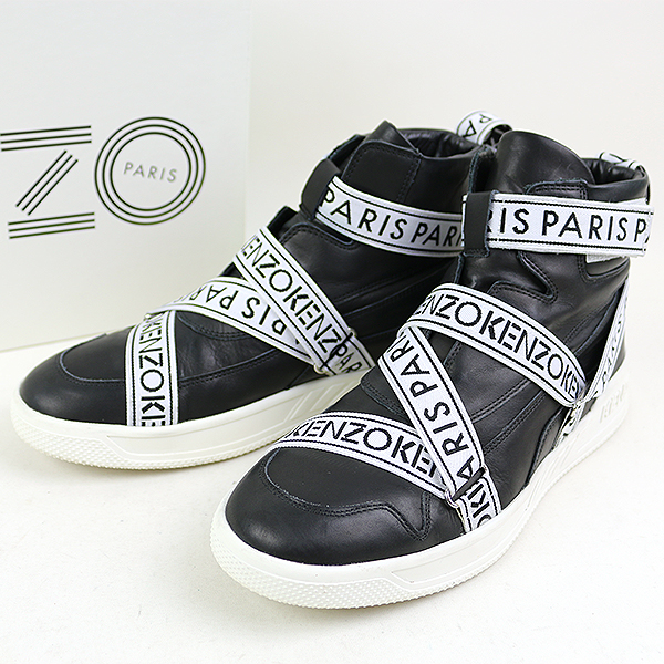 7175704ad1 KENZO Kenzo Calvin high-top leather sneakers men men black 40 (around 27cm)