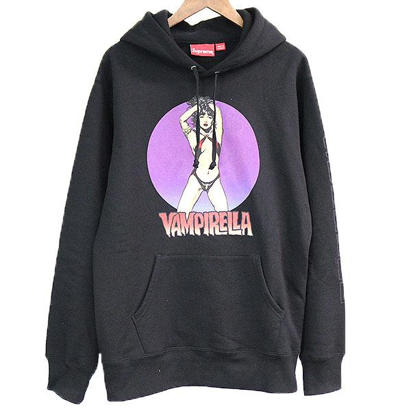 【中古】Supreme シュプリーム 17SS Vampirella Hooded Sweashir プルオーバーパーカー メンズ ブラック L
