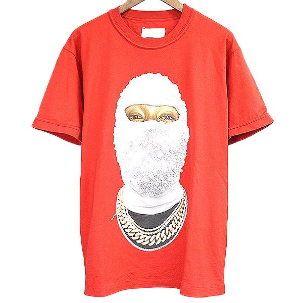 【中古】IH NOM UH NIT イン ノミネイト 18SS T-SHIRT ORINTED FACE GOLD AT FRONT プリントTシャツ メンズ レッド M