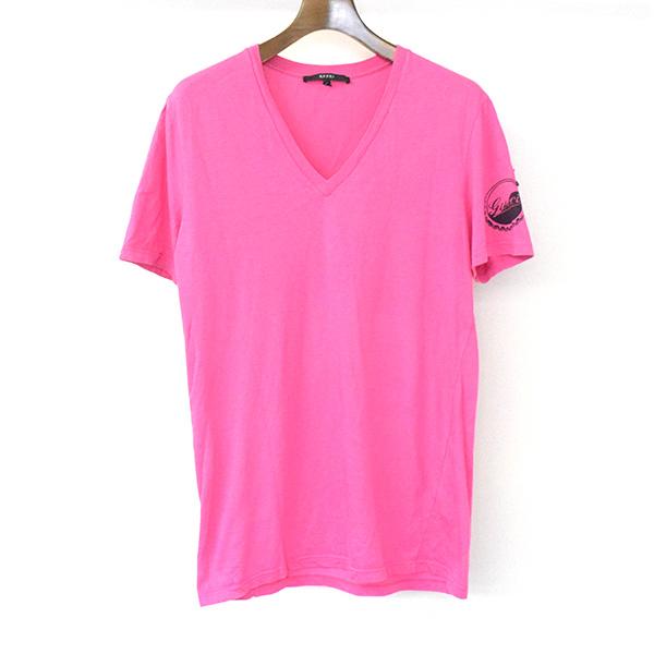 GUCCI Gucci 08SS star patch V neck T,shirt men pink L