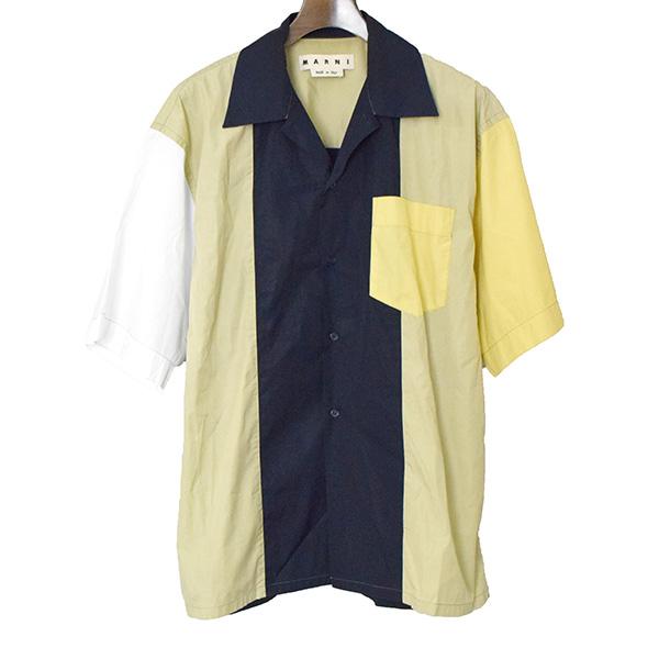 【中古】MARNI マルニ 18SS マルチカラーオーバーサイズ半袖シャツ メンズ マルチカラー 50