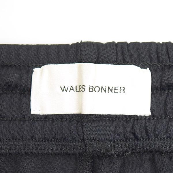 Wales Bonner ウェールズ ボナー 18SS サイドラインパームストラックパンツ メンズ ブラック MvNOmnw80