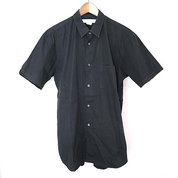 【中古】COMME des GARCONS SHIRT コムデギャルソンシャツ FOREVER コットンブロード半袖シャツ メンズ ブラック M