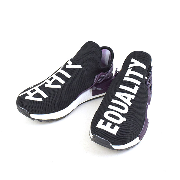 brand new 11ea0 ae66c ADIDAS BY PHARRELL WILLIAMS Adidas originals by Farrell Williams NMD Hu  Trail Equality sneakers men black 26.5cm