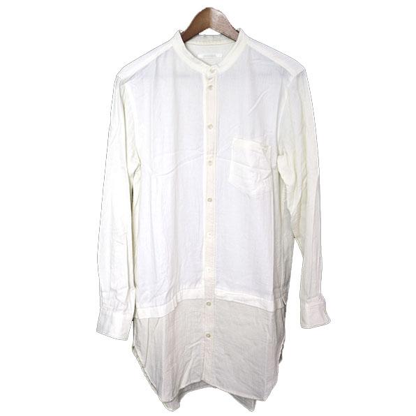 【中古】DISCOVERED ディスカバード ロングレイヤードバンドカラーシャツ メンズ アイボリー 1