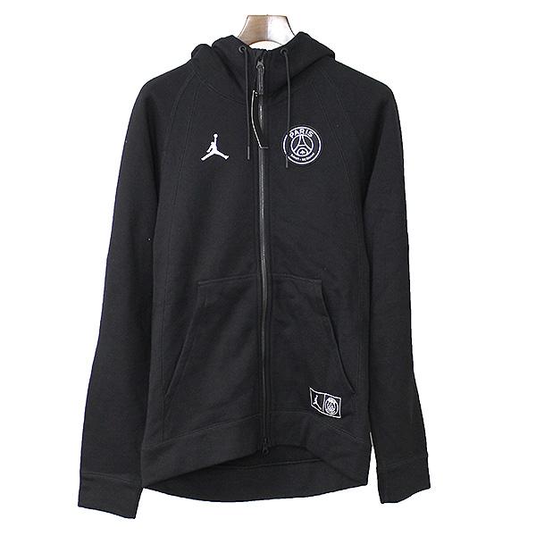 【中古】NIKE ナイキ PARIS SAINT-GERMAIN JORDAN BCFC WINGS FZ ジップアップフーデッドパーカー メンズ ブラック S