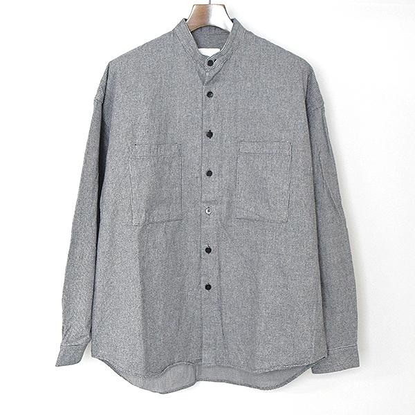 【中古】whowhat フーワット ハウンドトゥーススタンドカラーワイドシャツ メンズ グレー M