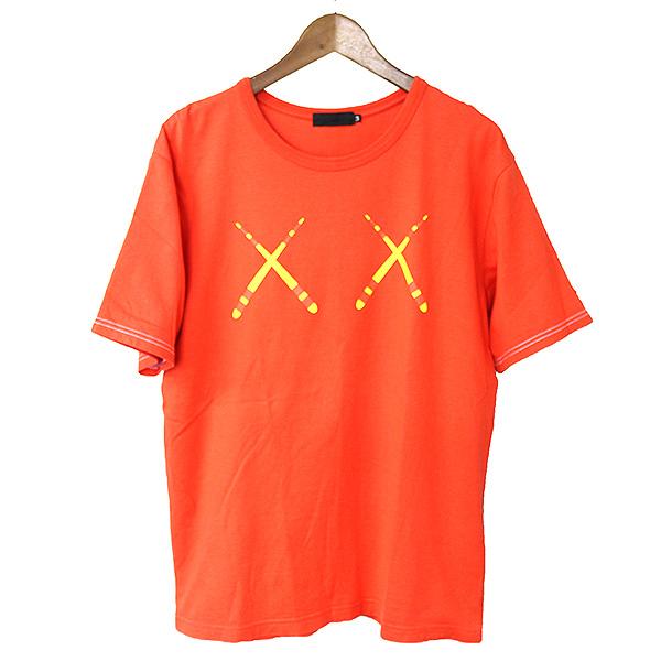 【中古】Original Fake オリジナルフェイク XXロゴプリントTシャツ メンズ レッド 3