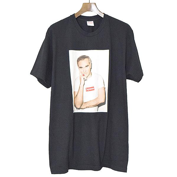 【中古】Supreme シュプリーム 16SS Morrissey Tee フォトプリントTシャツ メンズ ブラック XL