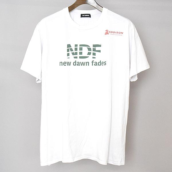 【中古】RAF SIMONS ラフシモンズ 17AW New dawn fades プリントTシャツ メンズ ホワイト S