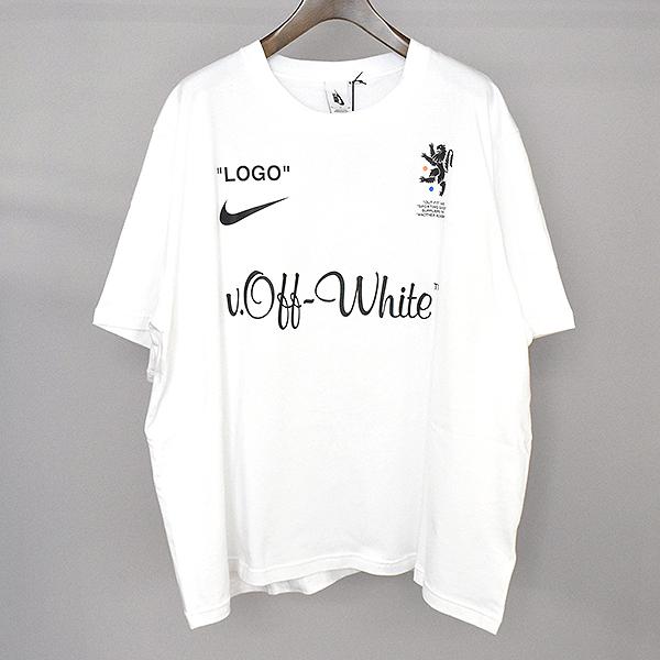 833bfd376a88 MODESCAPE Rakuten Ichiba Shop  NIKE Nike X OFF WHITE 18SS Football  Collection Tee back logo print T-shirt men white XL