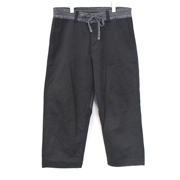【中古】Porter Classic ポータークラシック 16SS SOFT WEAPON WIDE PANTS ソフトウエポンコットンワイドパンツ メンズ ブラック M