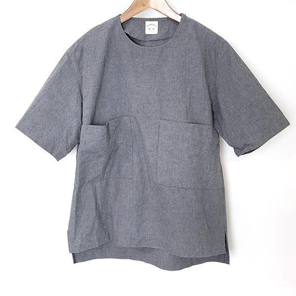 【中古】SUNSEA サンシー 15SS Sound Cotton Pull Over T-Shirt サウンドコットンプルオーバーTシャツ メンズ グレー 2