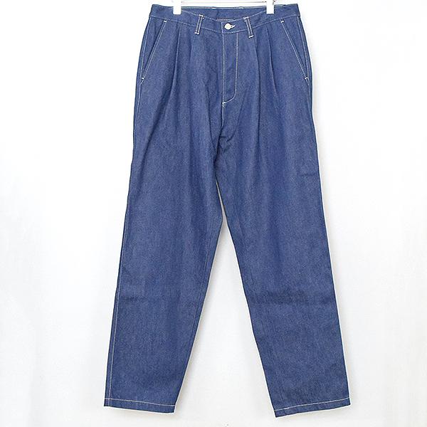 【中古】E.Tautz イートウツ Core Field Jean ワイドデニムパンツ メンズ インディゴブルー 34